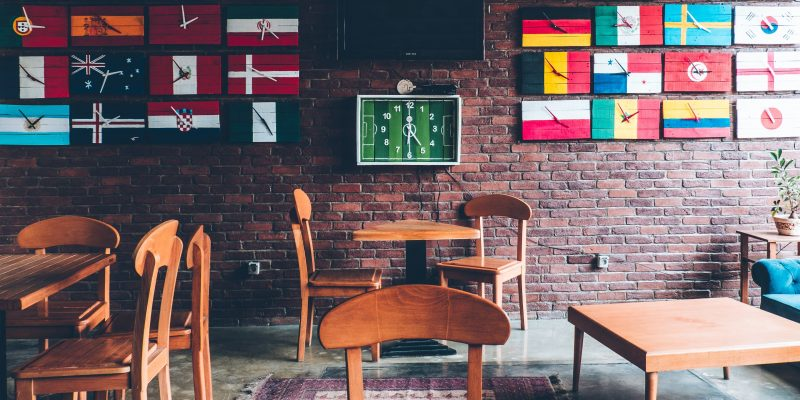 Flags on the wall