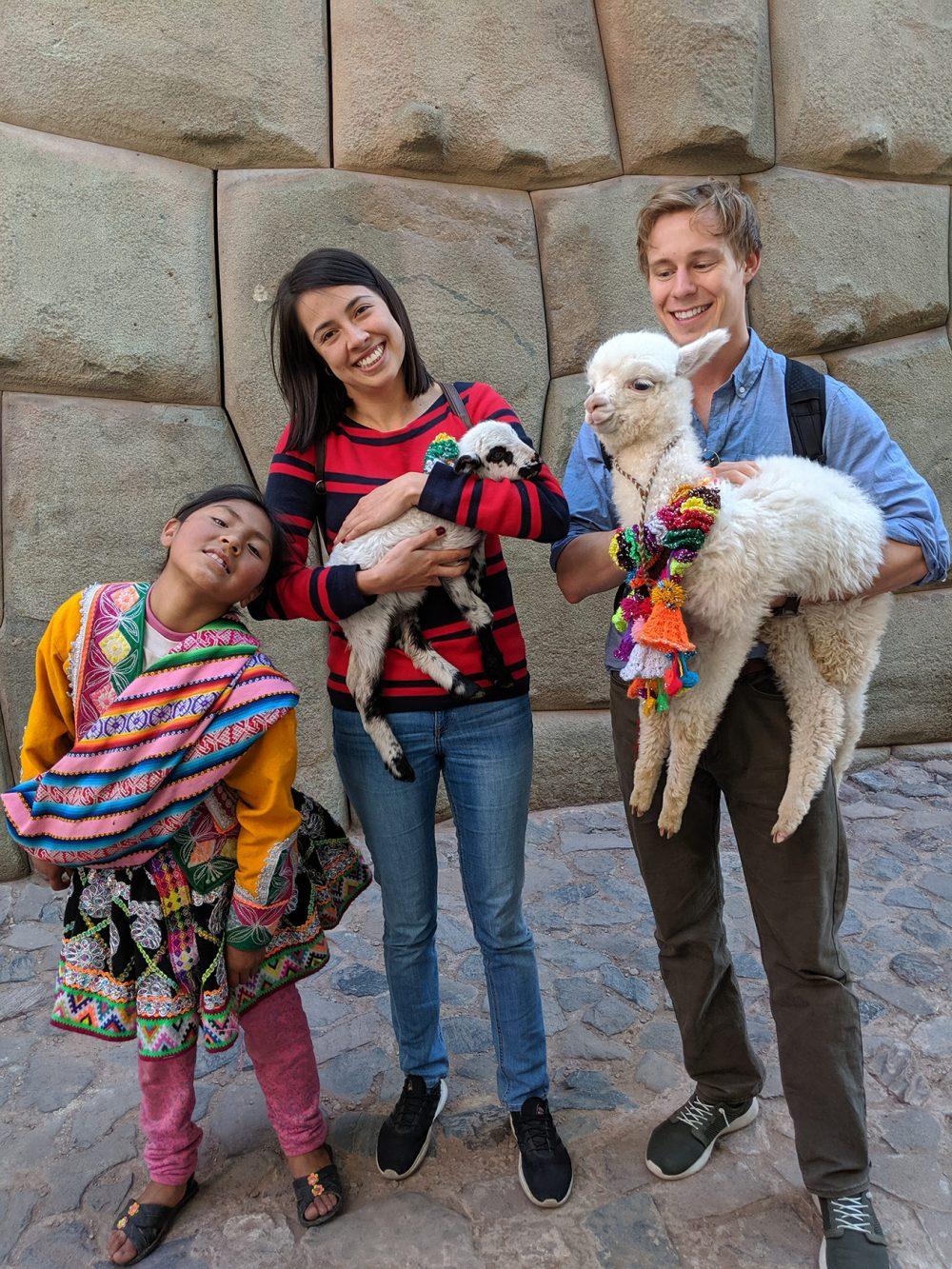 Lina and I in Cusco, Peru.